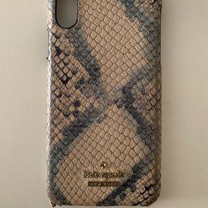 kate spade snakeskin iphone x case